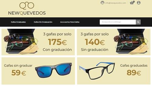 Ejemplo 2: Tienda de gafas multidiomas internacional