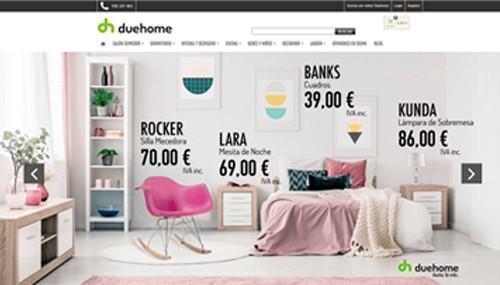 Ejemplo 4: Venta online de todo tipo de muebles